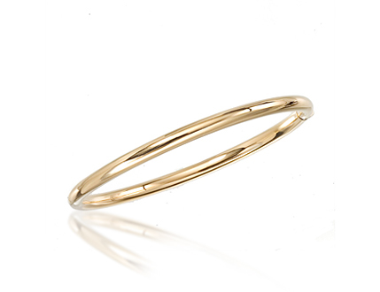 Roberto Coin 18k yellow gold bangle bracelet.